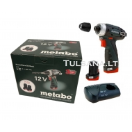 Metabo POWERMAXX BASIC BS 12V 2x2,0Ah Akumuliatorinis s...