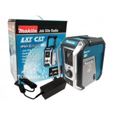 Makita DMR115 + AC adapteris. DAB+ Radijo imtuvas su bluetooth, SUB WOOFER, AUX, USB, High Quality Sound,