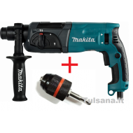 Makita HR2470 Perforatorius 2,7 J, 780W + SDS-plius ada...