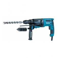 MAKITA HR2631FTJ PERFORATORIUS SDS-PLUS 800W, 2.4J KEIČIAMAS GRIEBTUVAS